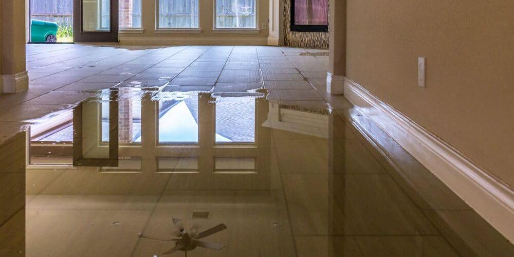 Over flowing water in the floor